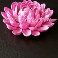 DIY flowers with pistachio shells